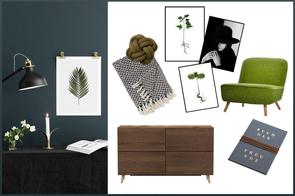 Hier solltest du sehen: Interior Collage, Pantone Greenery im massive look