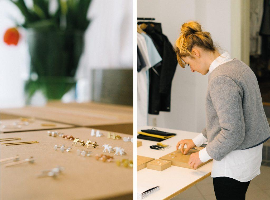 Modedesignerin Anne Trautwein in ihrem neuen Laden auf der Könneritzerstraße in Leipzig