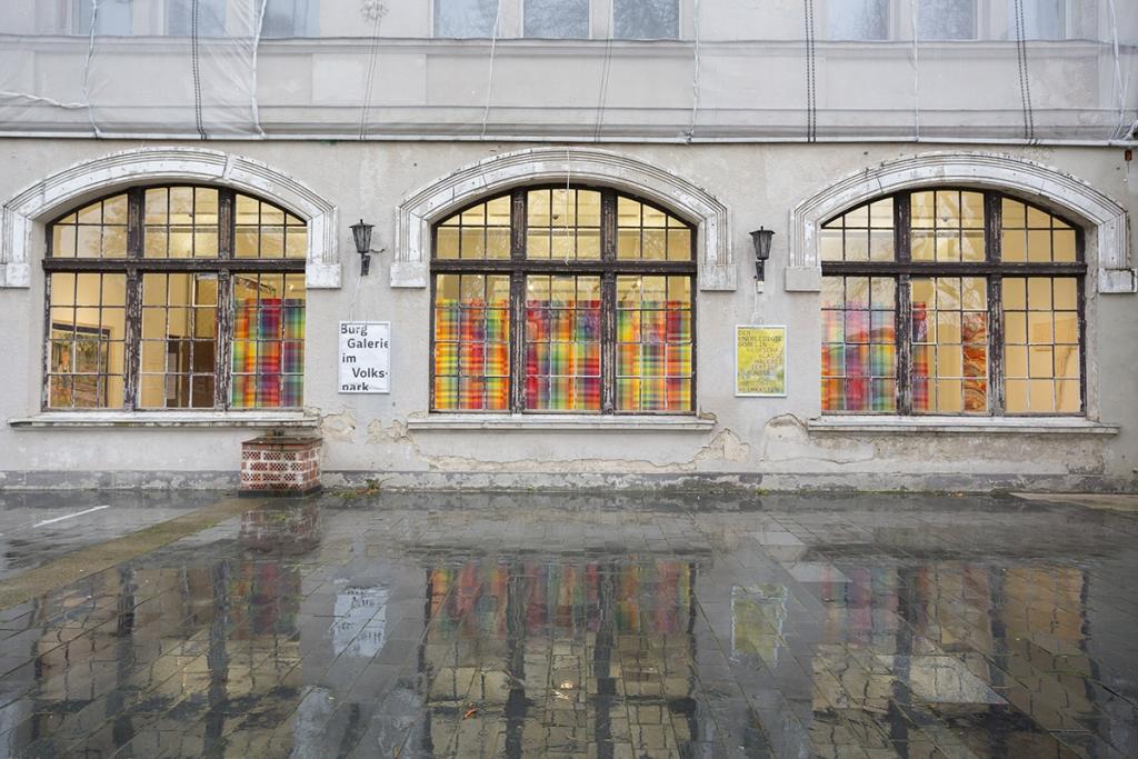 Die Burggalerie am Volkspark bei der Museumsnacht Halle-Leipzig 2017.