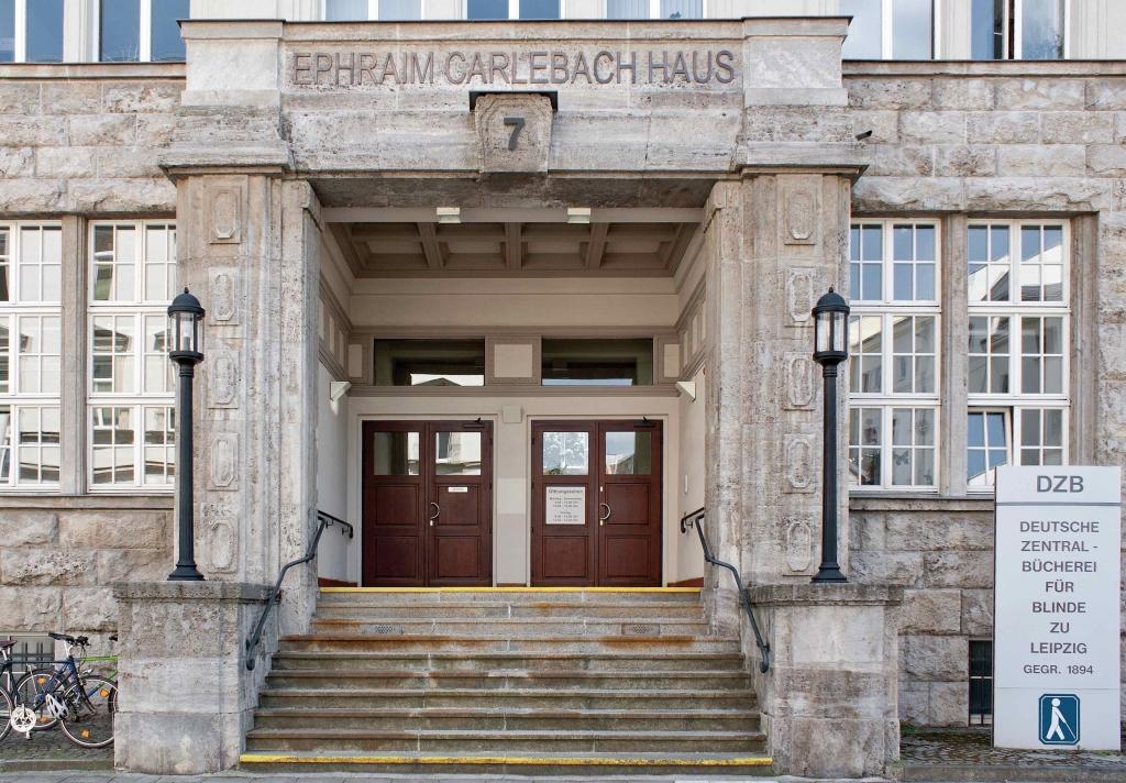Die Deutsche Zentralbücherei für Blinde bei der Museumsnacht Halle-Leipzig 2017.