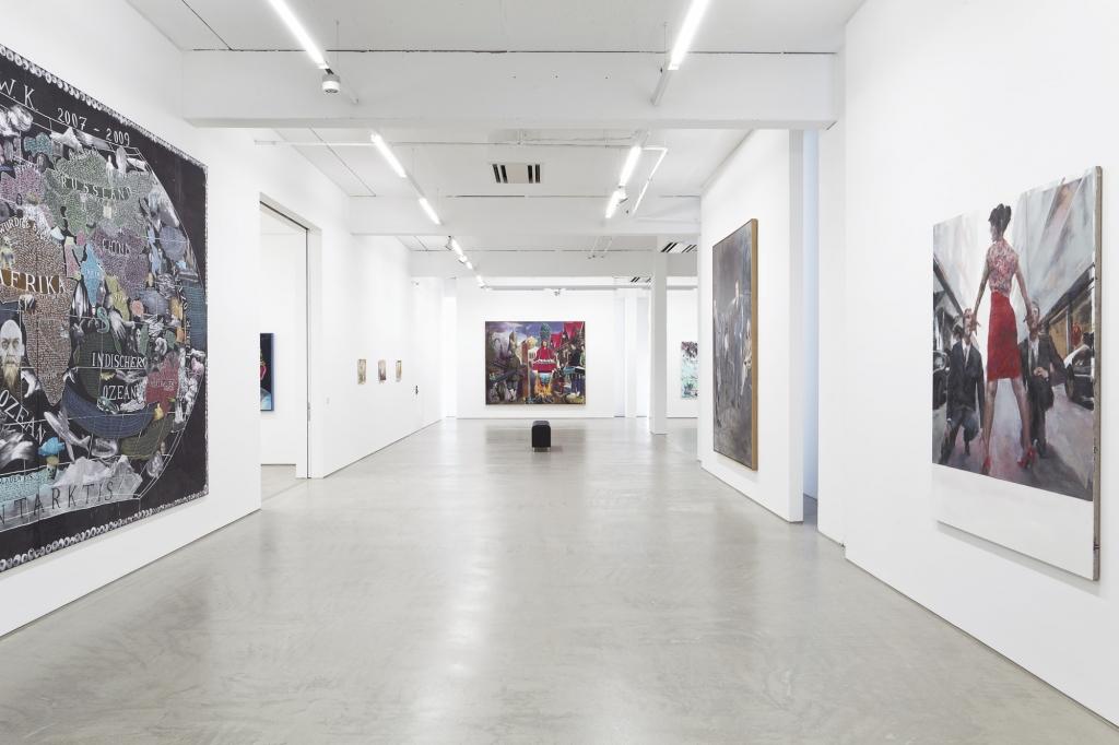 Die G2 Kunstgalerie bei der Museumsnacht Halle-Leipzig 2017.