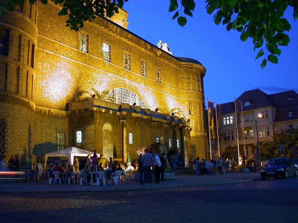 Das Landesmuseum für Vorgeschichte bei der Museumsnacht Halle-Leipzig 2017.