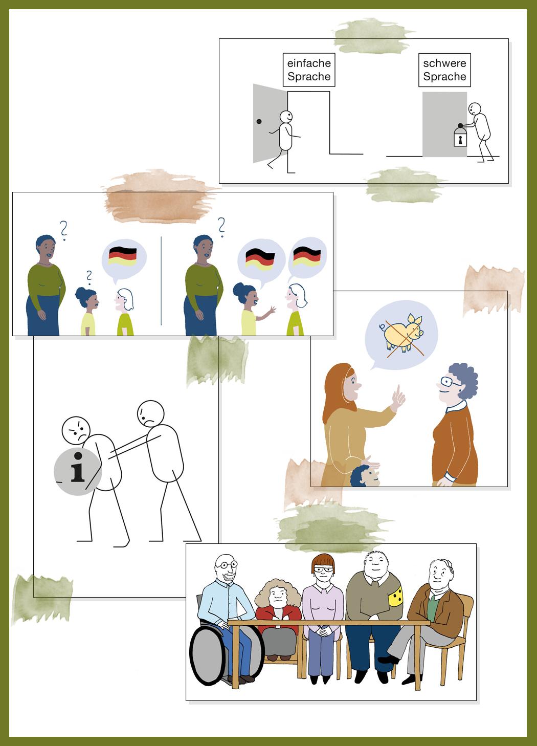 Leichte Sprache der Illustratorin Simone Fass