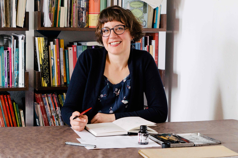 Zu Besuch bei Illustratorin Simone Fass