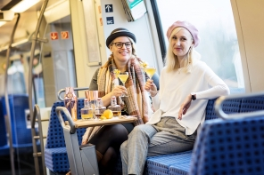 Eine Zugfahrt mit Katja Schirmer