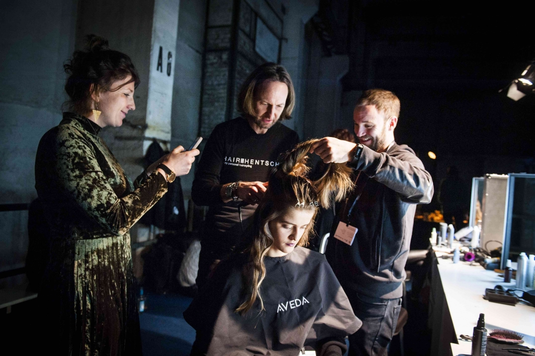 Fashion Week Berlin Green Fashionshow Backstage mit Aveda